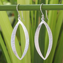 Sterling Silver 'Elliptical Siam' Earrings (Thailand)
