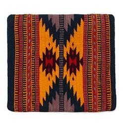 Wool and Cotton Cushion Cover 'Zapotec Butterfly' (Mexico)