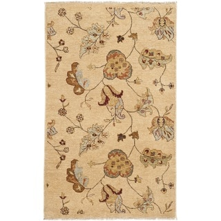 Safavieh Hand-knotted Agra Beige Wool Rug (3' x 5')