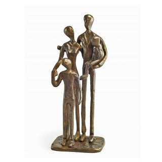 Family of Four Bronze Sculpture