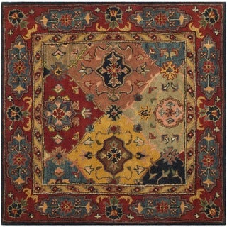 Safavieh Handmade Heritage Timeless Traditional Red Wool Rug (6' Square)
