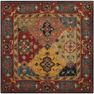 Safavieh Handmade Heritage Timeless Traditional Red Wool Rug (8' Square)