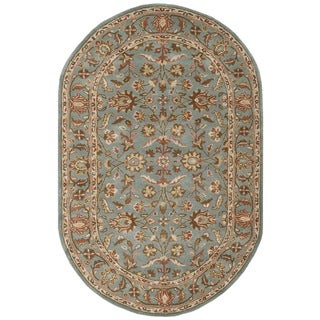 Safavieh Handmade Heritage Timeless Traditional Blue Wool Rug (7'6 x 9'6 Oval)