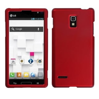INSTEN Titanium Solid Red Phone Protector Phone Case Cover for LG P769 Optimus L9