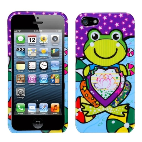 INSTEN Purple Lotus Frog Phone Protector Phone Case Cover for Apple iPhone 5