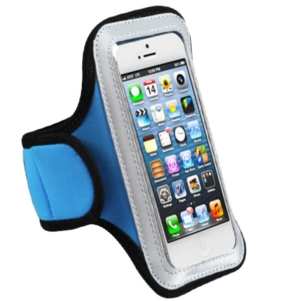 BasAcc Baby Blue Sport Armband Vertical Pouch 223 for Apple® iPhone 5