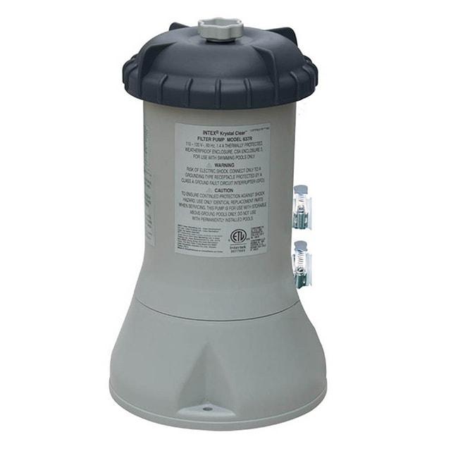 Intex Recreation 1,000 Gallon Filter Pump, Grey metal (Pl...