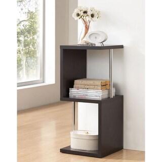 Baxton Studio Lindy Dark Brown 2-tier Display Shelf
