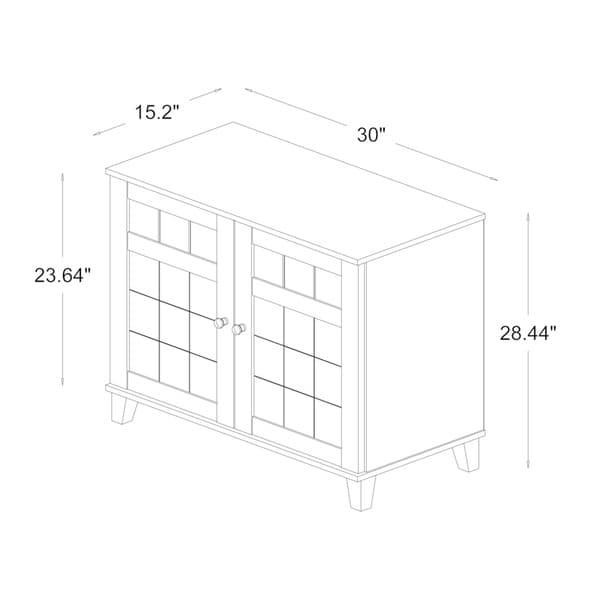 Baxton Studio Glidden Dark Brown Wood Multi-use Cabinet - Free ...