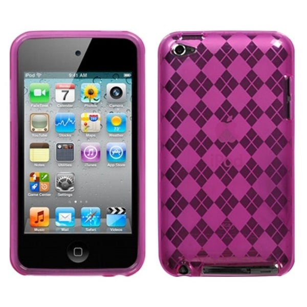 INSTEN Hot Pink Argyle iPod Case Cover for Apple iPod Touch 4th Generation