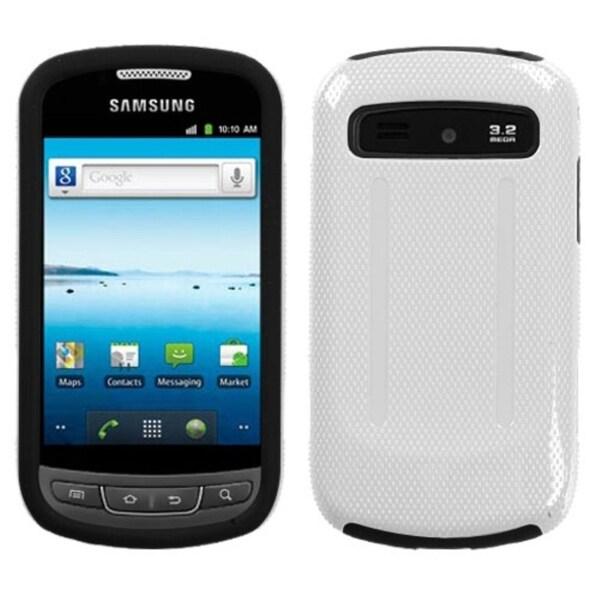 INSTEN White/ Black Hybrid Hard Plastic Phone Case Cover for Samsung R720 Admire Vitality