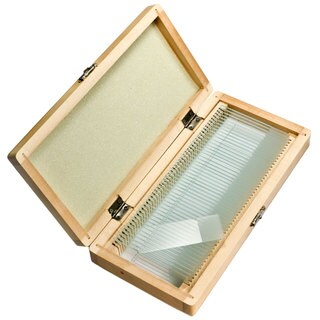 Barska 50 Prepared Microscope Slides and Wooden Case