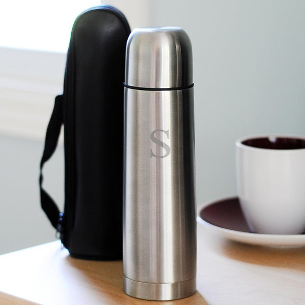 Personalized Stainless Steel Thermos with Carrying Case
