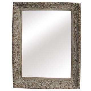 Antique Wood Traditional Rectangular 26-inch Wall Mirror