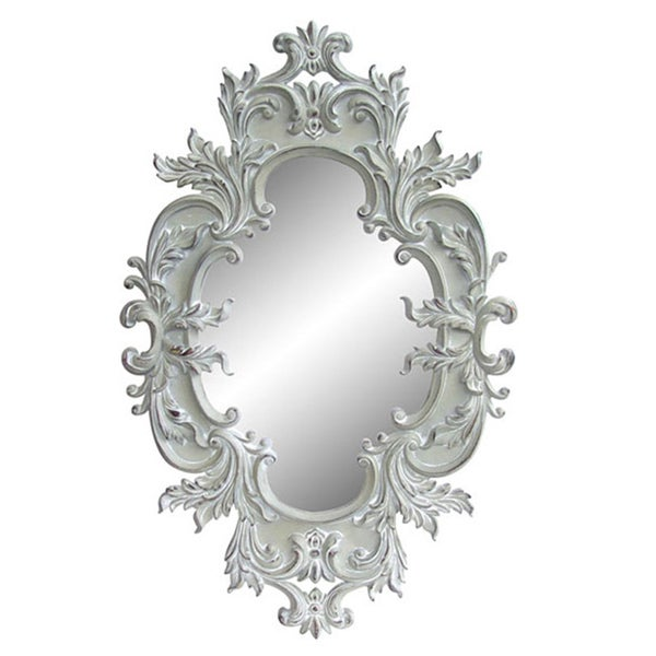 60 Inch Wall Mirror antique white traditional oval 60-inch wall mirror - free shipping