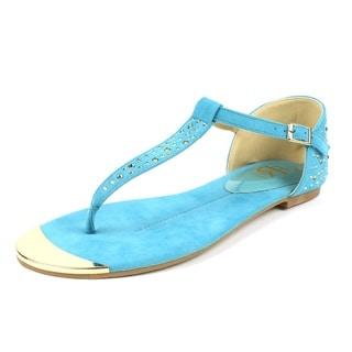 Fahrenheit Women's 'FAMKE-01' Mint Rhinestones T-strap Flat Sandals