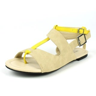 4da1cd689530 Mark   Maddux Women s  CONI-05  Beige Color Block Flat .