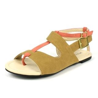 Mark & Maddux Women's 'Coni-05' Brown Color-block Sandals