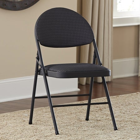 Cosco 4 Piece Fabric Seat Steel Frame Folding Chair Set