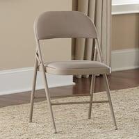 Cosco 4-piece Fabric Seat Steel Frame Folding Chair Set