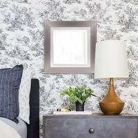 Chicago Brushed Silver Square Mirror