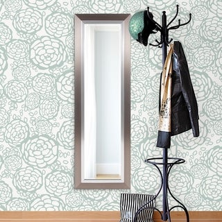 Chicago Brushed Silver Wall Mirror