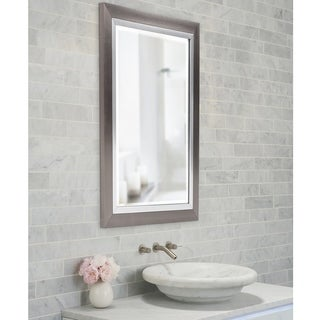 Brushed Silver Lakeshore Medium Mirror