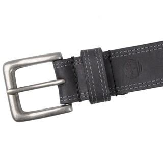 Timberland Men's Topstitched Genuine Leather Belt