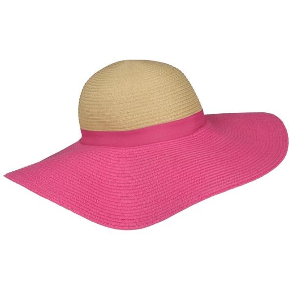 Journee Collection Women's Reversible Woven Paper Sun Hat