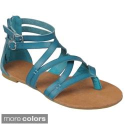 Journee Collection Women's 'Laguna-25' Strappy Gladiator Sandals