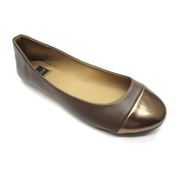 Blue Women's 'B-Flat 2' Brown Flats
