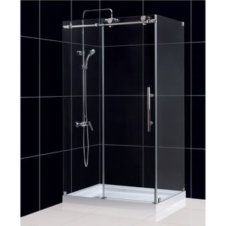 DreamLine Enigma-X 34.5 x 48.375 inches Fully Frameless Sliding Shower Enclosure