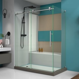 DreamLine Enigma-X 34.5 x 60.375 inches Fully Frameless Sliding Shower Enclosure