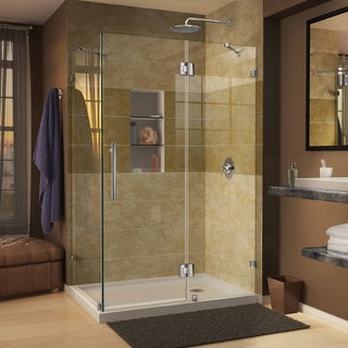 DreamLine Quatra Lux 34.312 x 46.312-inch Frameless Hinged Shower Enclosure