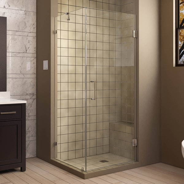 DreamLine UnidoorLux X 72 Inch Frameless Hinged Shower Enclosure Fre