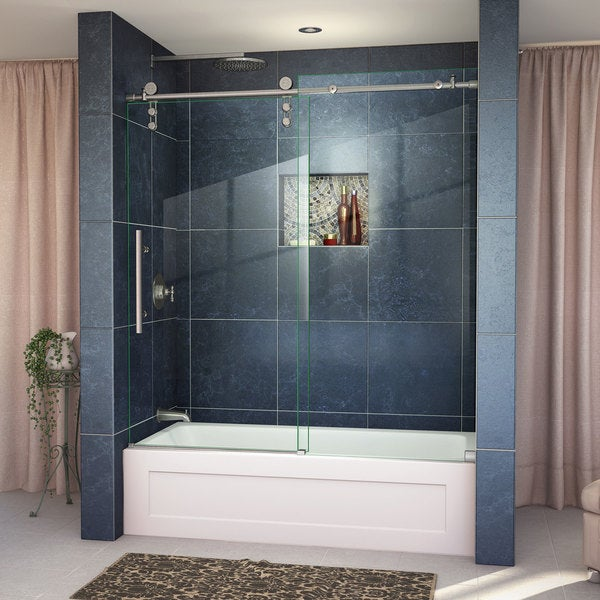 dreamline enigmaz 56 to 59 in frameless sliding tub door