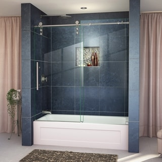 DreamLine Enigma-Z 56 to 59 in. Frameless Sliding Tub Door
