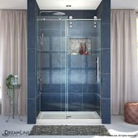 DreamLine Enigma-Z 44-48 in. W x 76 in. H Fully Frameless Sliding Shower Door
