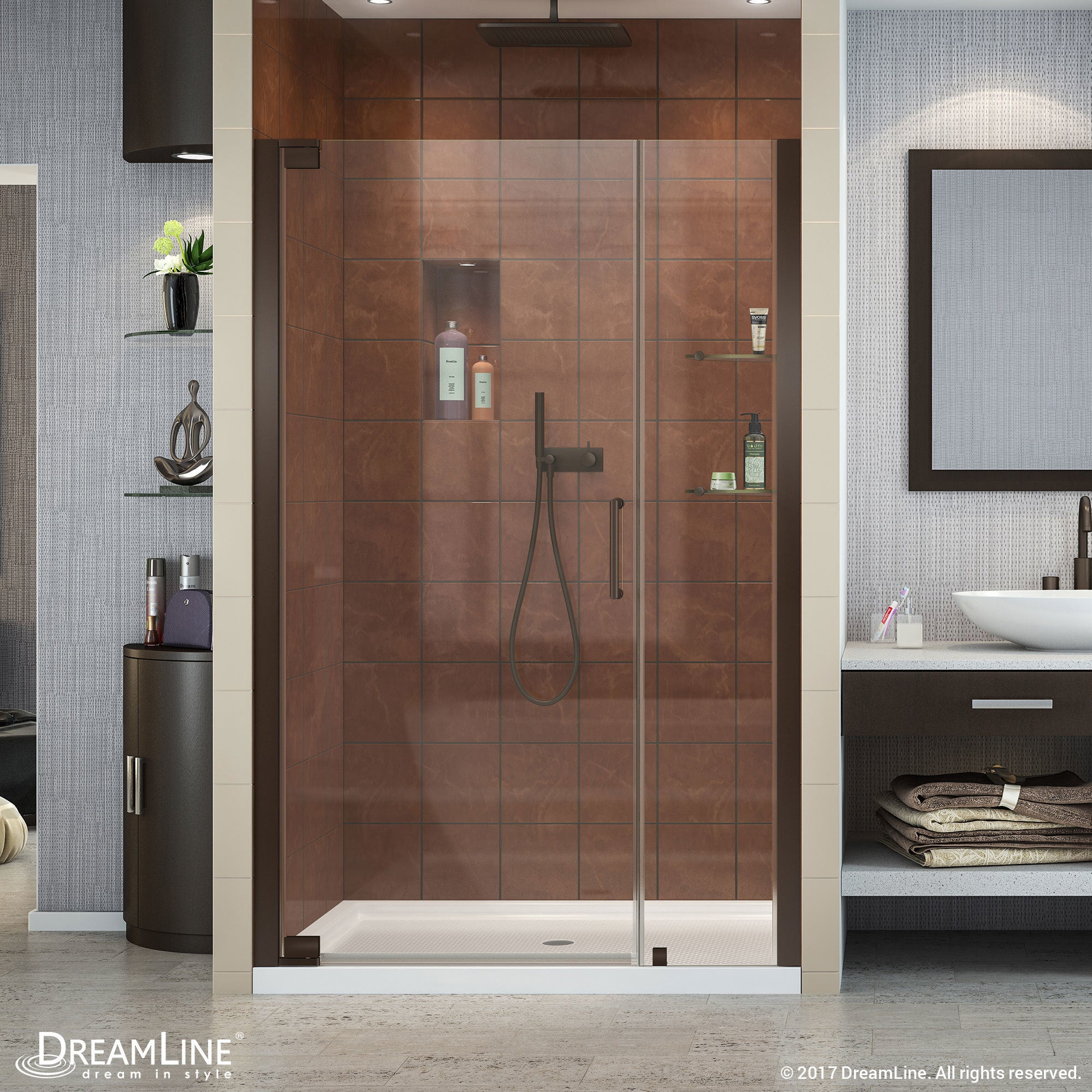 Dreamline Elegance 46 48 In W X 72 In H Frameless Pivot Shower Door 46 48 W