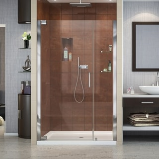 "DreamLine Elegance 46-48 in. W x 72 in. H Frameless Pivot Shower Door - 46"" - 48"" W"