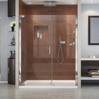 DreamLine Elegance 51 to 53 in. Frameless Pivot Shower Door