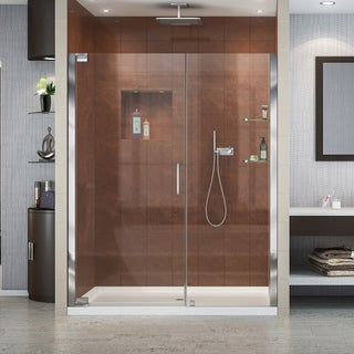 DreamLine Elegance 52 3/4 - 54 3/4 in. W x 72 in. H Frameless Pivot Shower Door - 54.75 in. w x 72 in. h