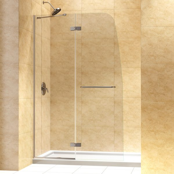 Dreamline Aqua Ultra 45 In Frameless Hinged Shower Door