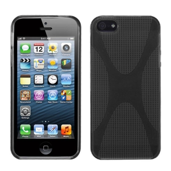 INSTEN Smoke X Shape Candy Skin Phone Case Cover for Apple iPhone 5