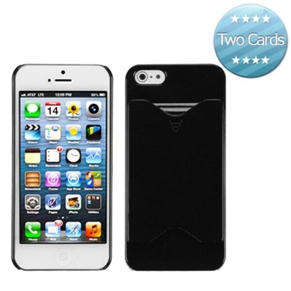 BasAcc Black Card Wallet Back Protector Case for Apple® iPhone 5
