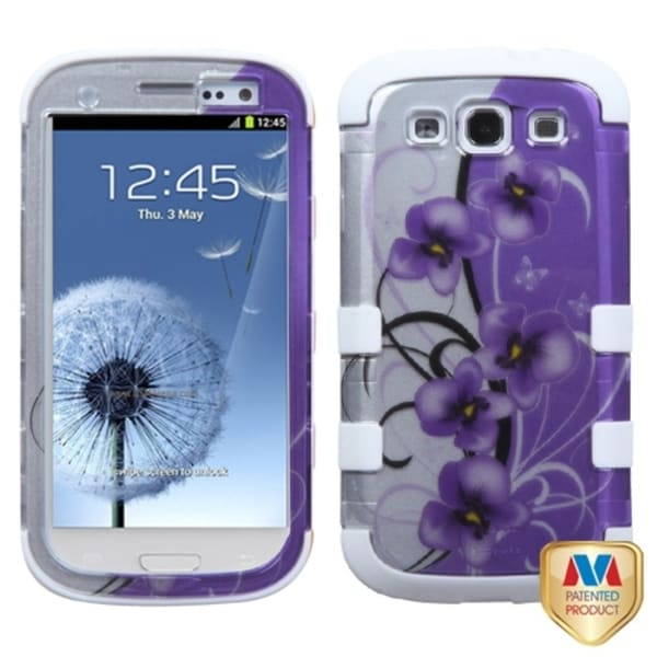 INSTEN Twilight White Petunias Phone Case Cover for Samsung Galaxy S III/ S3 i9300