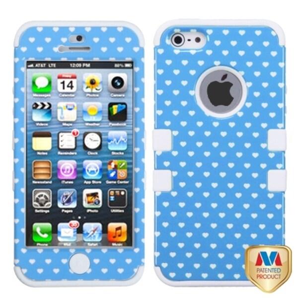 BasAcc Black Vintage Hearts/ Blue Dots case for Apple iPhone 5