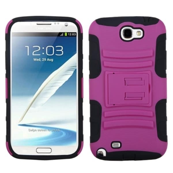 INSTEN Phone Case Cover with Stand for Samsung Galaxy Note II/ Note 2 N7100