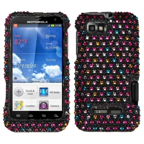 BasAcc Sprinkle Dots Diamante Phone Case for Motorola XT556 Defy XT