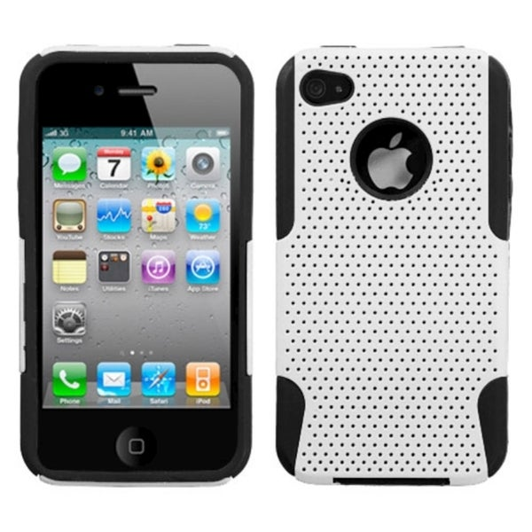 INSTEN White/ Black Astronoot Protector Phone Case Cover for Apple iPhone 4G/ 4S